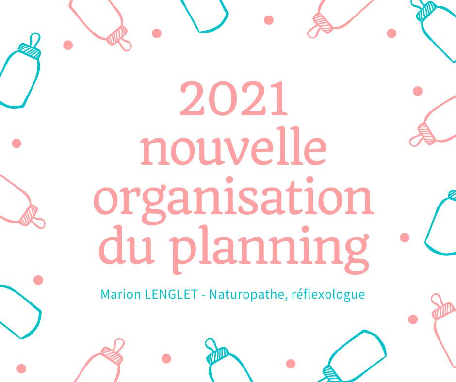 2021, nouvelle organisation